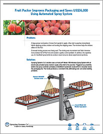 Fruit Packer Improves Packaging and Saves US$36,000 Using Automated Spray System, Case Study 136