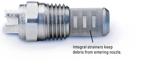 stainless steel integral strainer