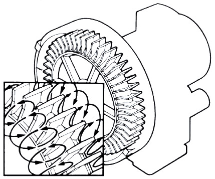 line drawing of regenerative blower