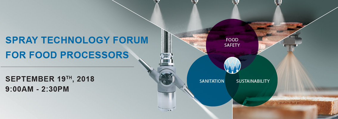 Spray Technology Forum for Food Processors