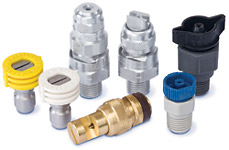 grouping of quick connect nozzles