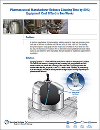 CS181 Pharmaceutical Industry Tank Cleaning