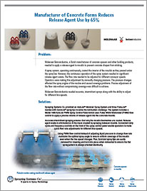 Manufacturer of Concrete Forms Reduces Release Agent Use by 65%, Case Study 134