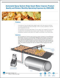 Automated Spray System Helps Snack Maker Improve Product Quality and Reduce Monthly Operating Expenses by US$3,000