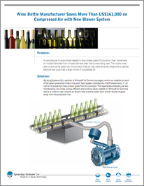 Wine Bottle Manufacturer Saves More Than US$161,000 on Compressed Air with New Blower System