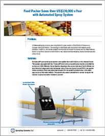 Food Packer Saves Over US$130,000 a Year with Automated Spray System