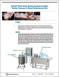 AutoJet® Food Safety System Expansion Enables Poultry Processor to Boost Production by 36%