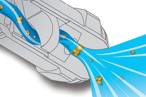 diagram of how a MFP FullJet nozzle works