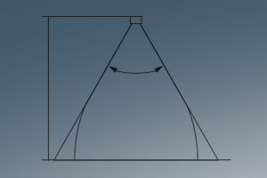 spray angle theoretical coverage drawing
